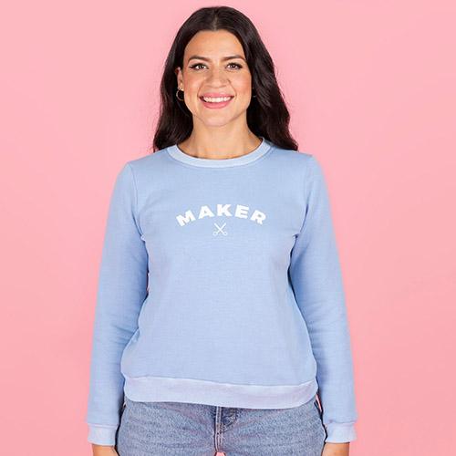 sewing sweatshirt