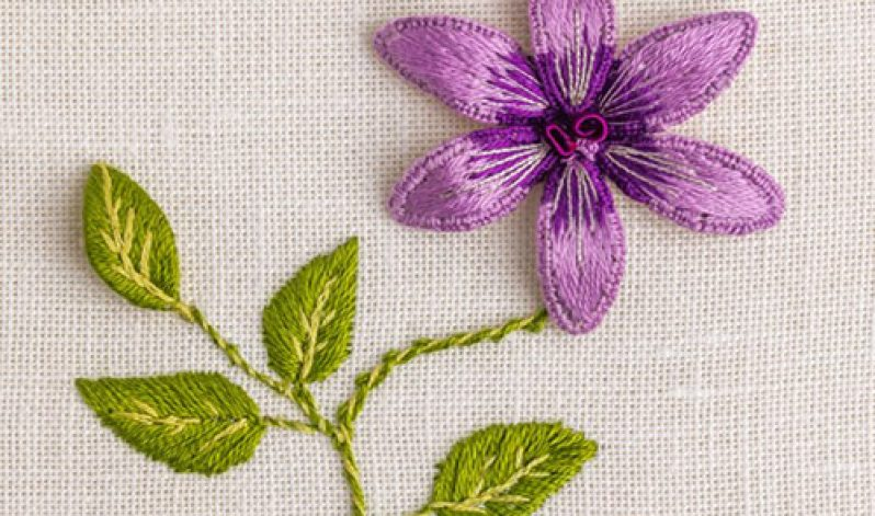 On-Demand, Embroidered 3D Flower and Leaf Wired Shapes