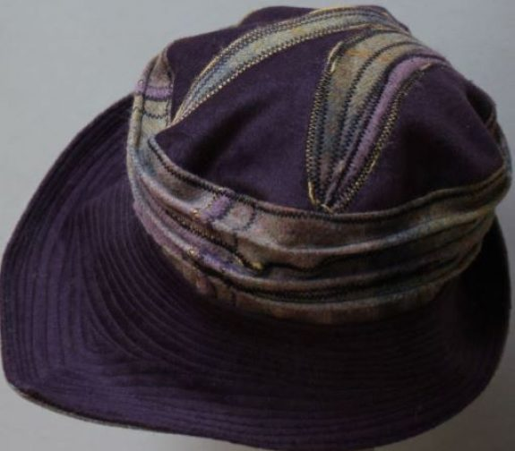 Brimmed hat by Barbara Cassell