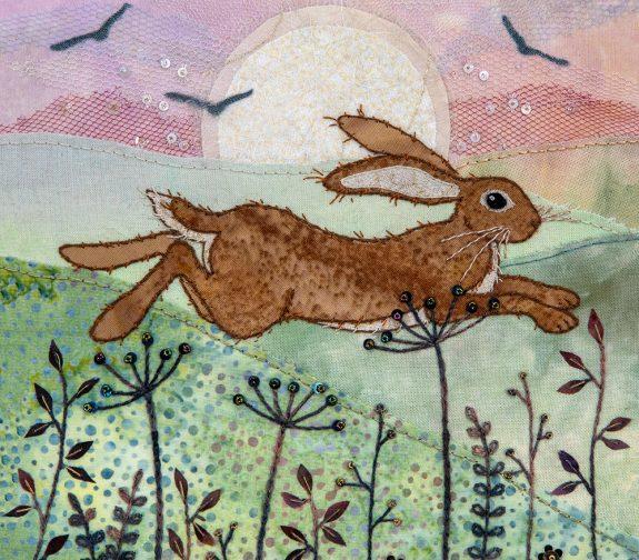 Meadow Hare Fabric Panel