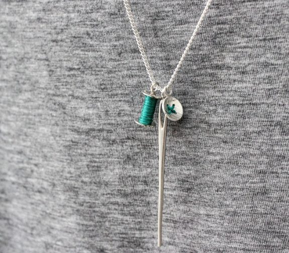 Haberdashery cluster necklace