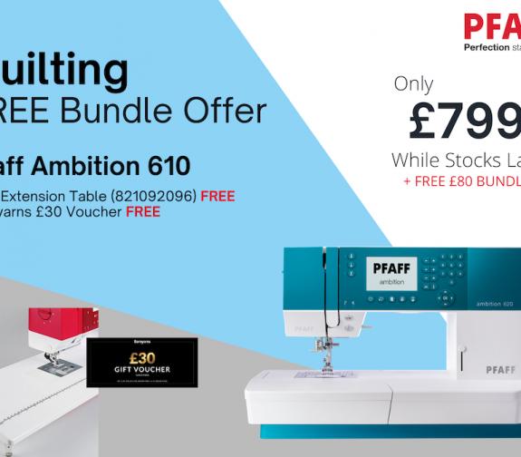 PFAFF Ambition 620 + FREE £80 Bundle