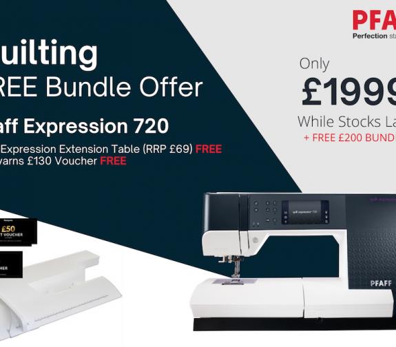 PFAFF Quilt Expression 720 & £200 FREE Bundle