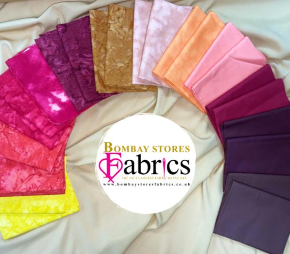Beautiful Batik & Plain Fat Quarters