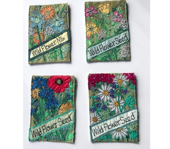 Fabric Wildflower Seed Packets