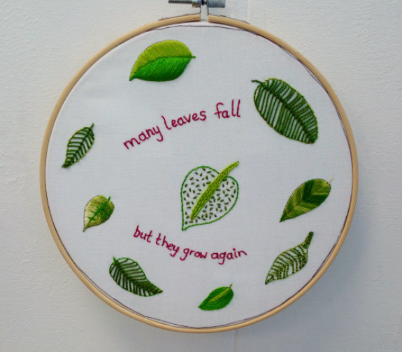 Many Leaves Beginners Make It Your Own Embroidery Kit