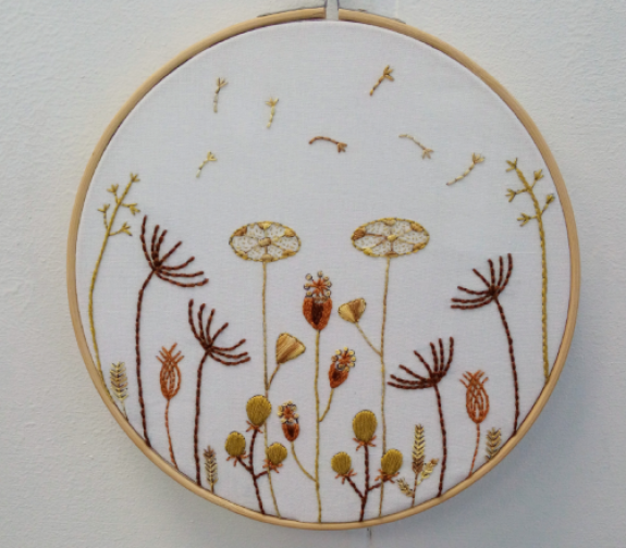 Seed Head Beginners Make It Your Own Embroidery Kit