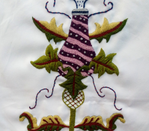Stylised Tudor Flower Make It Your Own Embroidery Kit