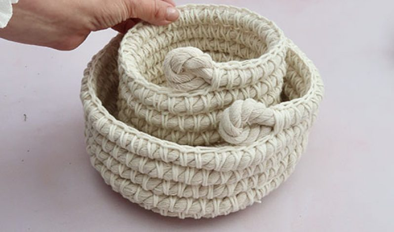 Lindsey Newns: Crochet Rope Nesting Baskets