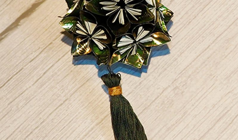 Sarah Burnett-Moore: Christmas 'Kusudama' Japanese Origami Bauble