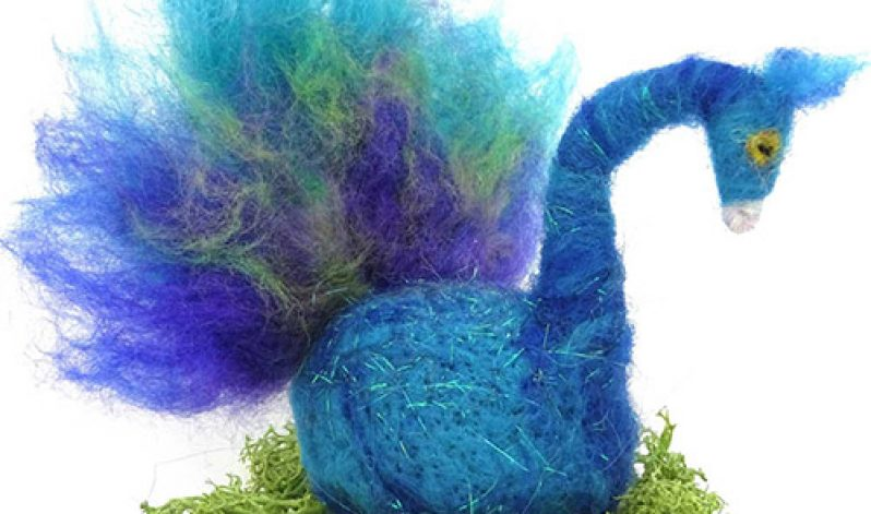 Steffi Stern: Needle Felt a Proud Peacock