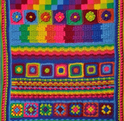 Diana Bensted - Crochet Masterclass complete blanket