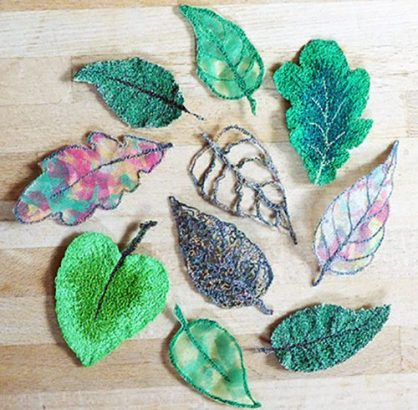Lovely Leaves, Free Motion Embroidery