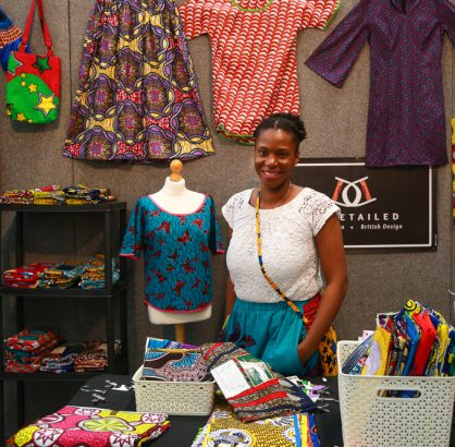 african fabric stall